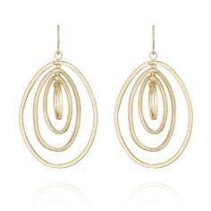 Modern Links Swivel Drop Earrings $38.00