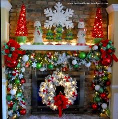 Here are 100 Best Christmas Mantel Decorations. Take inspiration for the perfect Christmas Fireplace decor, that include various themes & traditional styles Christmas Love, All Things Christmas, Winter Christmas, Victorian Christmas, Christmas Christmas, Vintage Christmas, Beautiful Christmas, Grinch Christmas Decorations, Christmas Wreaths