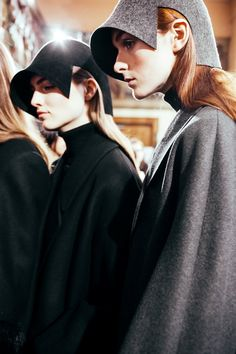 Hussein Chalayan AW15, Dazed backstage, Paris, Womenswear