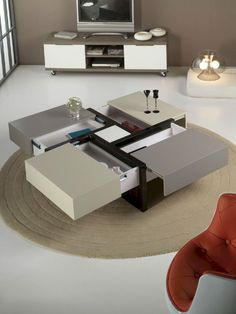 Furniture Design Living Room Table 47 Ideas For 2019 Cool Coffee Tables, Coffe Table, Coffee Table Design, Table Furniture, Living Room Furniture, Living Room Decor, Furniture Design, Plywood Furniture, Office Furniture
