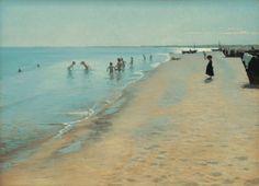 art-is-art-is-art:  Summer Day at the South Beach of Skagen, Peder Severin Krøyer