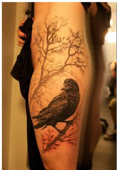 20 Inspiring Raven Tattoo Designs