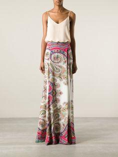 Etro Printed Maxi Skirt in Multicolor (multicolour) | Lyst