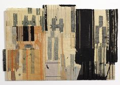 Mixed media on paper, bound with waxed thread.