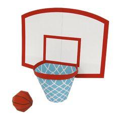 Papercraft del Juego de baloncesto. Manualidades a Raudales.