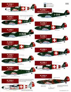 World's Best Model Airplane Decals Air Force Aircraft, Ww2 Aircraft, Military Aircraft, Luftwaffe, Plane Crafts, Me 109, Swiss Air, Old Planes, Aircraft Painting
