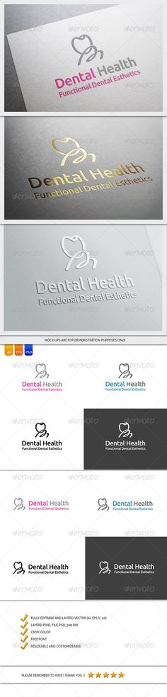 Dentist Logo Template #GraphicRiver FILE DESCRIPTION Vector (AI, EPS) and Graphic