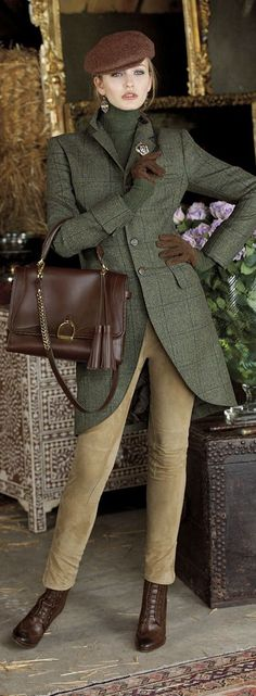 Ralph Lauren - clearly, who else? Their new Fall Winter collection. A touch of lady and grand dame with a flair of a fox hunt