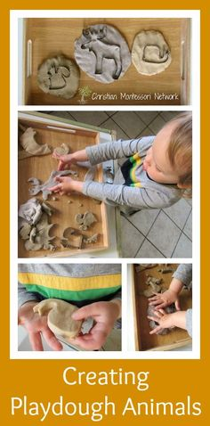 Please enjoy six different kid friendly activities for hands-on learning about animals that help support the Creation story found in Genesis. - www.christianmontessorinetwork.com