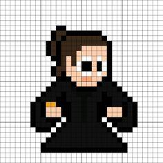 Leia Organa (The Last Jedi) Perler Bead Pattern Minecraft Quilt, Pixel Art Templates, 8 Bits, Crochet Stars, The Force Is Strong, Bead Patterns, Venom, Perler Beads, Pokemon