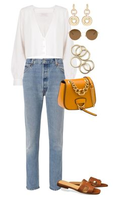"""""""Untitled #4417"""" by lily-tubman ❤ liked on Polyvore featuring RE/DONE, Stone_Cold_Fox, Miu Miu, SPINELLI KILCOLLIN and Mykita"""