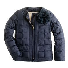 Crewcuts Girls' flower-pouf puffer...... Just got this for Olivia's new school coat :)