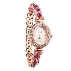 Langii Lrg1516b16 Luxury Jewelry Bracelet Rose Gold Crystal Accented Women Watches  #Accented #bracelet #Crystal #gold #Jewelry #Langii #Lrg1516b16 #Luxury #Rose #watches #Women MonitorWatches.com
