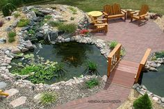 15 Amazing Garden Walkways That Will Charm You Garden Pond Design, Garden Pool, Garden Bridge, Diy Pond, Outside Room, Backyard Seating, Backyard Makeover, Ponds Backyard, Amazing Gardens
