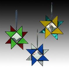 Auseklīši, auseklīši VISUR!   Star Bright Ornament by LA Glass