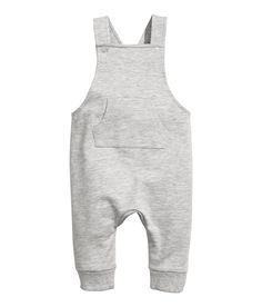 Check this out! CONSCIOUS. Bib overalls in soft organic cotton sweatshirt fabric. Straps with snap fasteners. Kangaroo pocket and ribbed hems. Soft, brushed inside. - Visit hm.com to see more.