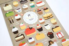 cute & yummy pastry stickers! Funny Sticker World: Patisserie Flat Stickers - only $2 **free shipping on stickers**
