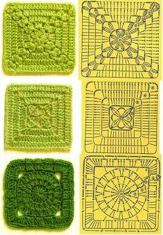 Transcendent Crochet a Solid Granny Square Ideas. Inconceivable Crochet a Solid Granny Square Ideas. Crochet Motifs, Granny Square Crochet Pattern, Crochet Blocks, Crochet Diagram, Crochet Chart, Crochet Squares, Granny Squares, Crochet Stitches, Embroidery