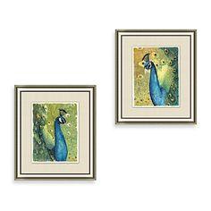 Peacock Framed Art