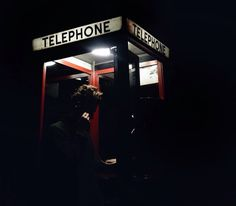 Phone booth that Megan uses