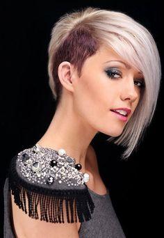 short hair side cut women - Google-haku