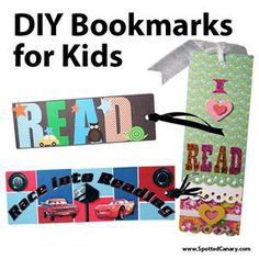 DIY Bookmarks for Kids - Main image - Library Crafts - Summer Reading Ideas - Kids Reading Crafts