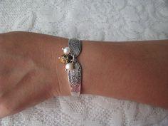 Spoon Bracelet  Spoon Jewelry  Silverware by TheBeadLadiesII, $32.00