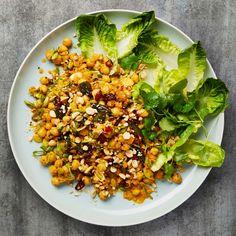 Yotam Ottolenghi's revamped British classic Coronation Chickpeas Yotam Ottolenghi, Ottolenghi Recipes, Pasta Salad Recipes, Veg Recipes, Vegetarian Recipes, Cooking Recipes, Healthy Recipes, Cooking Kale, Savoury Recipes