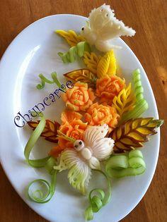 Melon Rose Platter | Flickr - Photo Sharing!