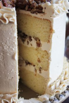 Butter Pecan Cake Tutorial
