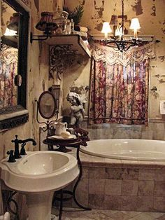 20+ Chic Bathroom Design And Decor Ideas With Boho Curtains