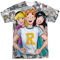 Archie Comics Archie and Gals White Poly T-Shirt