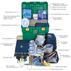 Disaster kit bug out box for a family, long term bug out
