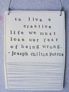plaque joseph chilton pearce quote  MADE TO ORDER by mbartstudios, $28.00