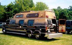 Made an RV out of a van! Cool Trucks, Big Trucks, Chevy Trucks, Dodge Van, Chevy Van, Customised Vans, Custom Vans, 6x6 Truck, 4x4 Van