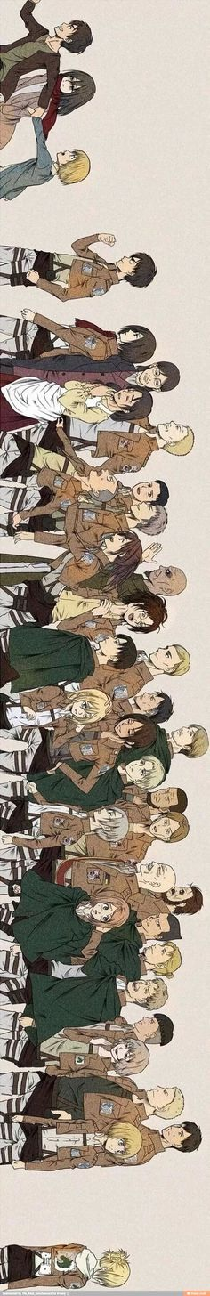 Why 'da hell is Armin back there with Annie? No way is he being shipped with her! Armin is way to cute for her with her long nose! She killed so many people and should be dead. She is a DEMON!---- No I think it's cus she turned her back on all of them! Attack On Titan Funny, Attack On Titan Fanart, Attack On Titan Ships, Manga Anime, Anime Art, I Love Anime, Me Me Me Anime, Fan Art, Eren Y Levi