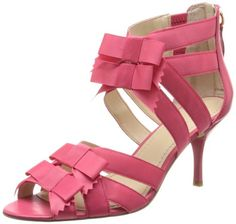 I so want these shoes! Would look as good with a pair of sexy jeans as it would a pretty dress :) ~ Nine West Women's Quono Dress Sandal,Pink