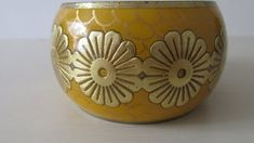 Items similar to Retro Bangle. 1980 Wide Imitation Brass and Enamel Bangle. Yellow enamel and Brass 1980 Wide Bangle. 1980 Bangle on Etsy Vintage Jewelry, Unique Jewelry, Hippie Chic, Decorative Bowls, Retro Vintage, Vintage Outfits, Candle Holders, Bo Ho, Bangles