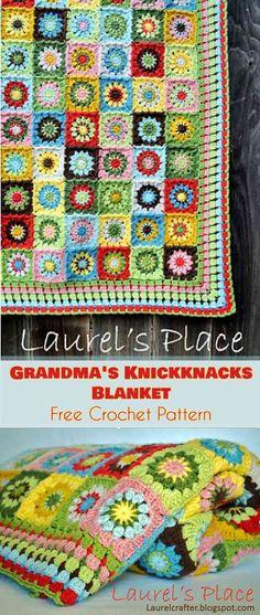 Grandma's Knickknacks Blanket - Free Crochet Pattern #freecrochetpatterns #crochetblanket #summerstyle