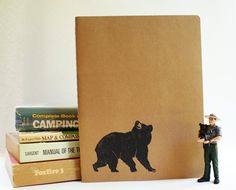 Exploring Bear Rustic Western Camp Notebook  Large par subtleacts, $16,00