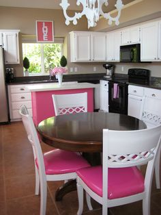 kitchen...with the exception of the pink. I don't think the hubby would like a pink kitchen ;)
