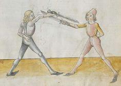 Lecküchner, Hans: Kunst des Messerfechtens Nordbayern, 1482 Cgm 582 Folio 11