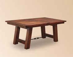 Ouray Double Trestle Amish Plank Table   Trestle Tables   Amish Dining Room Tables 45228 Dutch Crafters