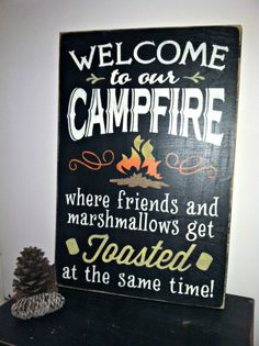 WELCOME to our BONFIRE where friends and by TheCountryNook on Etsy, $30.00