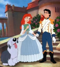 Little Mermaid's Ariel, Prince Eric and dog via www.Facebook.com/pages/Princess-Ariel/220139621335723