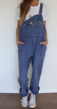 Reworked 1940's vintage french workwear dungarees, original 'Adolphe Lafont' Made in a heavy soft cotton, almost moleskin like with all the original zips