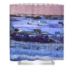 David Bridburg Shower Curtain featuring the digital art Inv Blend 18 Van Gogh by David Bridburg