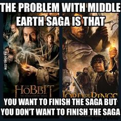 Very true. I cried so hard when the Hobbit ended because the Middle-earth saga was over :,( Legolas, Thranduil, Gandalf, Jrr Tolkien, Fellowship Of The Ring, Lord Of The Rings, The Middle, Middle Earth, Saga