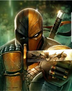 Batman & The Dark Knights of Gotham — Deathstroke V Batman by Mystic-Oracle Marvel Dc Comics, Dc Comics Art, Anime Comics, Gotham Comics, Deadpool Comics, Dc Deathstroke, Deathstroke The Terminator, Comic Villains, Dc Comics Characters