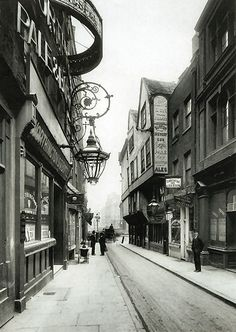 Wych Street in 1870 before demolition in 1901. It ran from the western end of St…